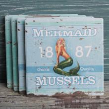 Mermaid Brand Mussels Coaster