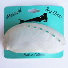 Pearl Donkey Ear Abalone Hair Clip - Mermaid Sea Gem