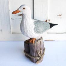 Wood Like Seagull Figure