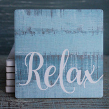 Relax Blue Coaster