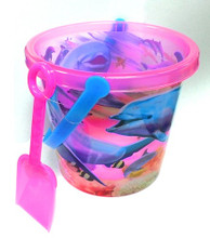 Pink Dolphin Beach Bucket & Shovel