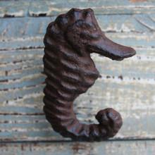Rust Seahorse Iron Knob