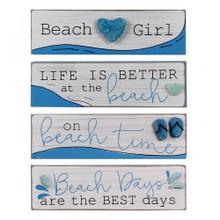 Beach Wood & Rock Signs