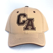 Khaki and Dark Brown CA Hat