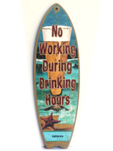 Drinking Hours California Surfboard Sign