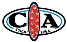 California Surfboard Oval Sticker