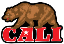 Cali Bear Sticker