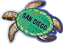 San Diego Sea Turtle sticker