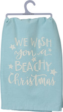 We Wish You a Beachy Christmas Dish Towel