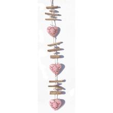 Pink Wooden Heart Garland