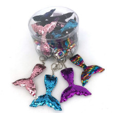 Sequin Mermaid Tail Keychains
