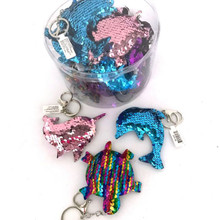 Sequin Sealife Keychains