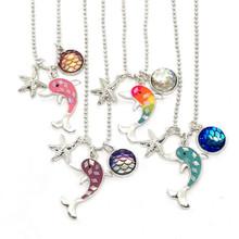 Dolphin Starfish Rhinestone Necklace