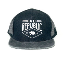 California Republic Soft Mesh Black Hat
