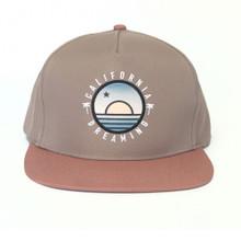 Blood Orange & Taupe California Sunrise Hat