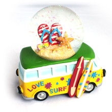 VW Bus Flip Flops Snow Globe