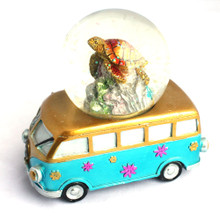 VW Bus Snow Globe with Sea Turtle