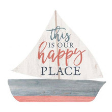 This is our Happy Place Sailboat Sign