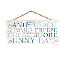 Sandy Beach Words Sign