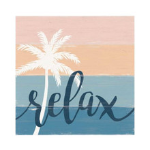 Relax Palm Tree Sign