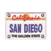 San Diego License Plate Patch