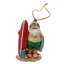 Santa Surfboard Ornament