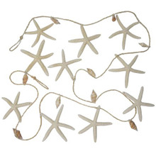 White Starfish Garland