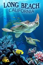Long Beach Sea Turtles Car Coaster