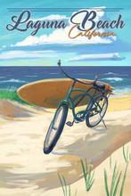 Laguna Beach - Beach Cruiser Car Coaster