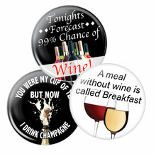 Wine Triple Pack of Buttons