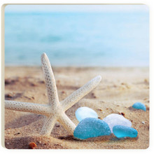 Sea Glass Starfish Coaster