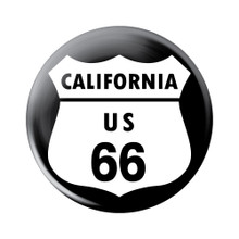 California US 66 Button