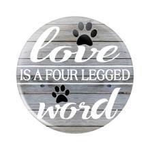 Love is a Four-Legged Word Button