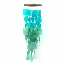Turquoise & Green Capiz Shell Chimes