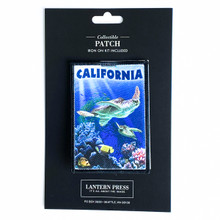 California Sea Turtles Swimming Patch