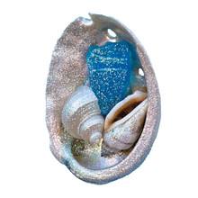 Light Blue Sea Glass Abalone Magnet