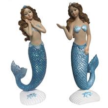 Blue Mermaid Figures