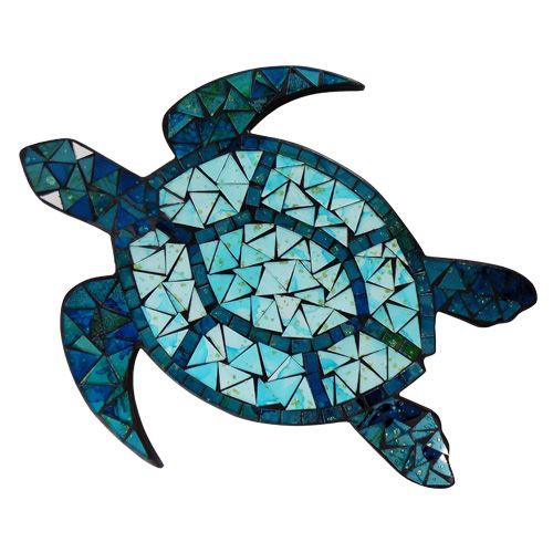 Blue Mosaic Sea Turtle
