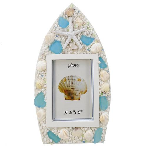 Sea Glass & Starfish Frame