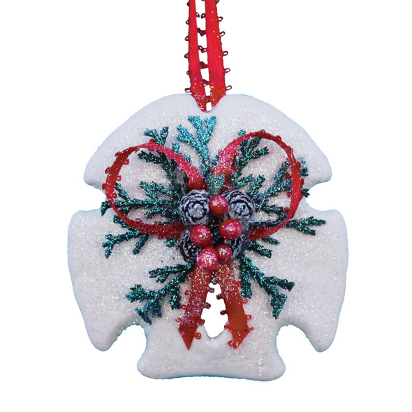Arrowhead Sand Dollar Pinecone Christmas Ornament