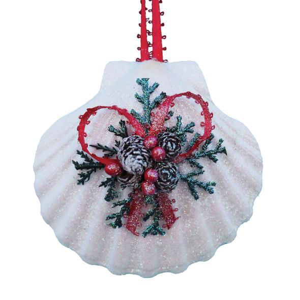 Irish Scallop Shell Pinecone Christmas Ornament