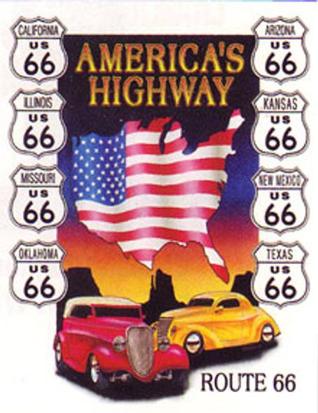 America's Highway Metal Sign