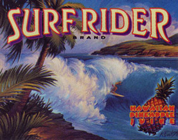 Surfrider Brand Metal Sign