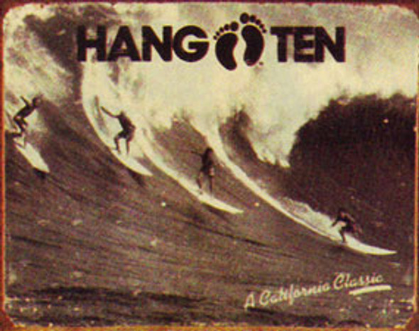 Hang Ten Classic Metal Sign