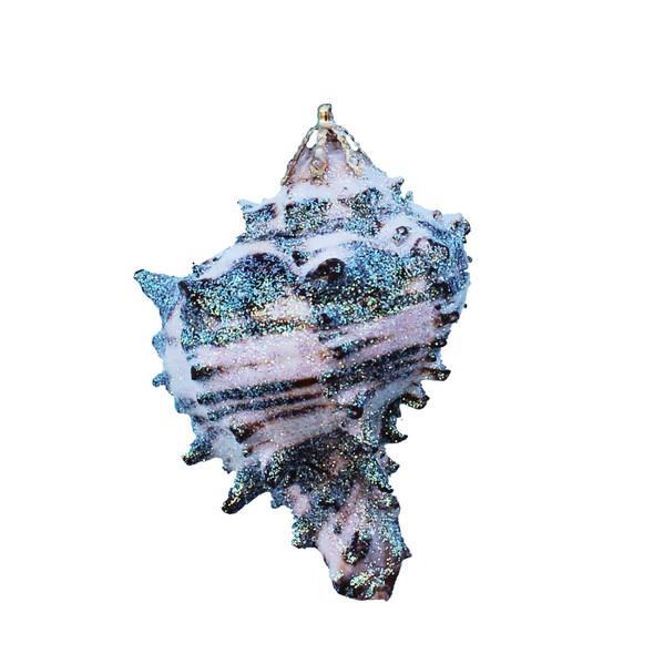 Small Black Murex Shell Glitter Christmas Ornament