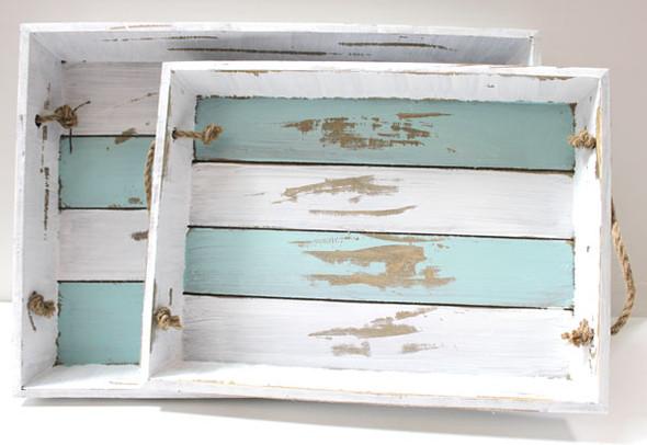 Wood Trays - Set of 2