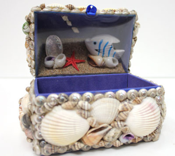 Treasure Box with Aquarium Scene