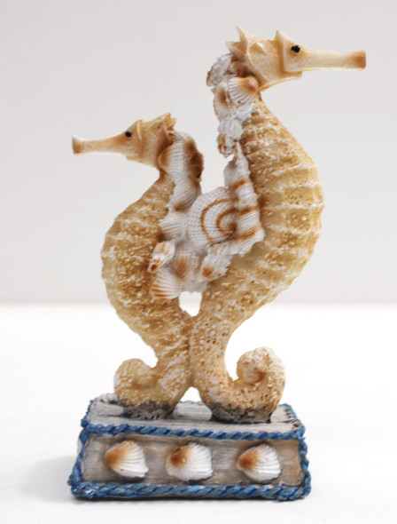 Small Double Resin Seahorse on Pedestal