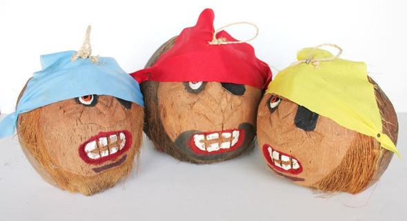 Pirate Coconut Heads - 1 Dozen