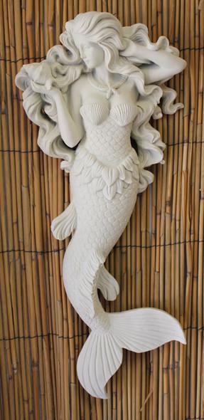 White Flowing Hair Mermaid